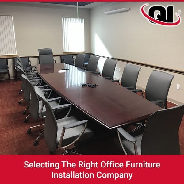 Selecting The Right Office Furniture Installation Company